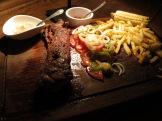 Havana's steak BBB. Corn on the cob!