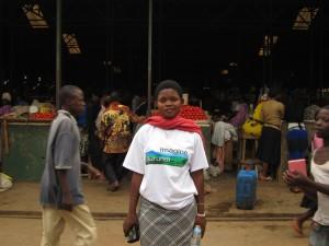 Amina in Kigali market