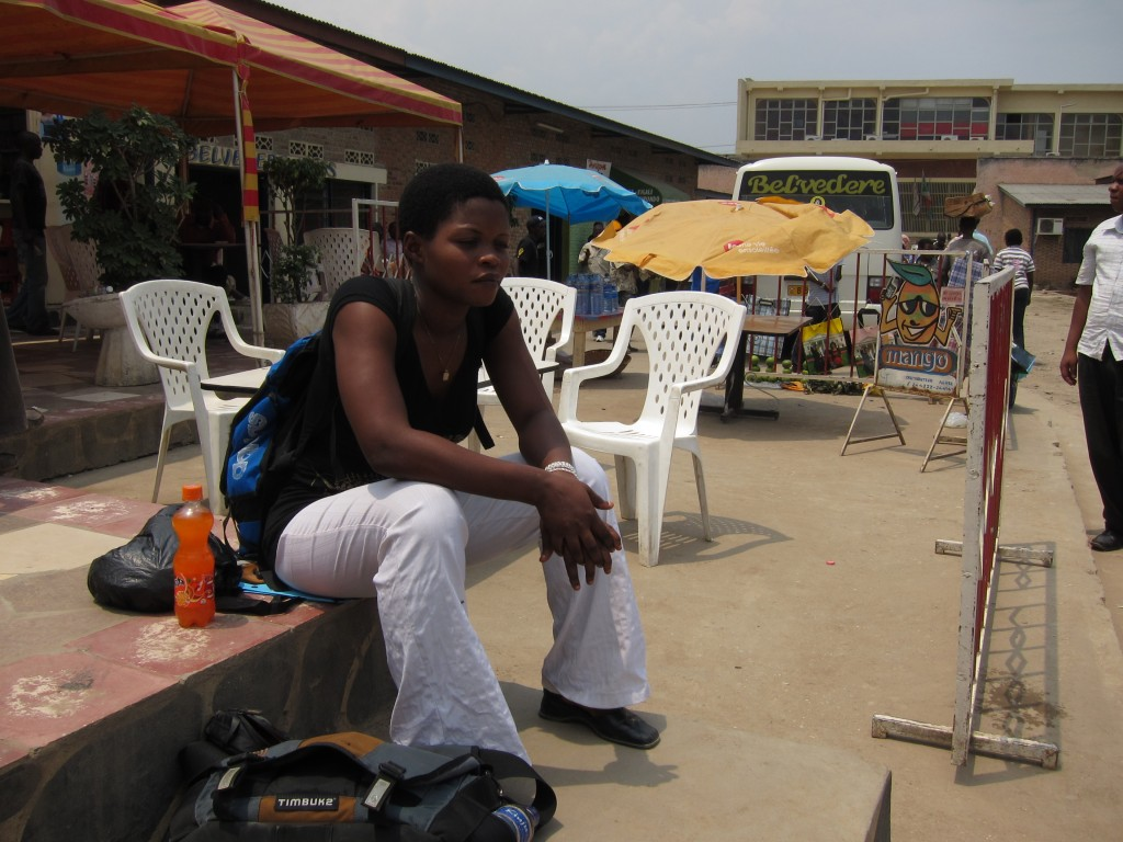 Amina at Sioni station in Bujumbura.